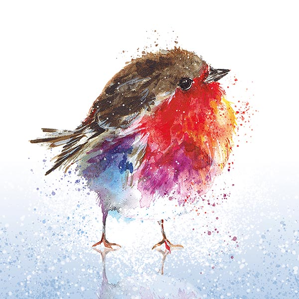 Fluffy Robin on Ice