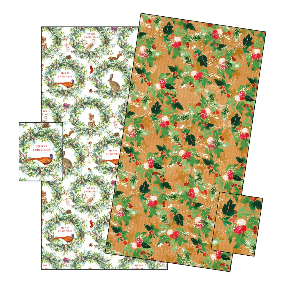 Winter Floral Gift Wrap