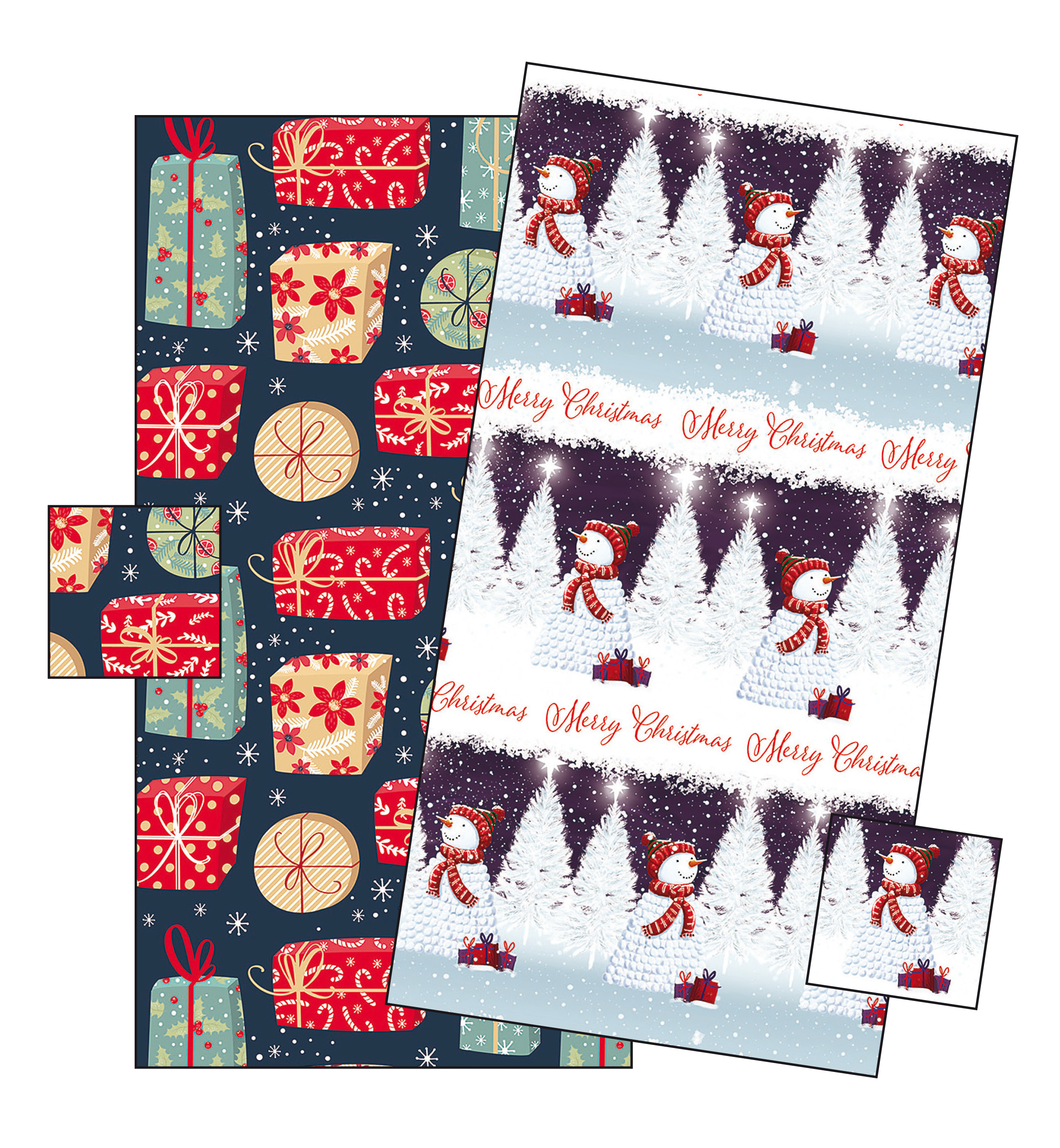 Winter gift wrap